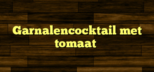 Garnalencocktail met tomaat